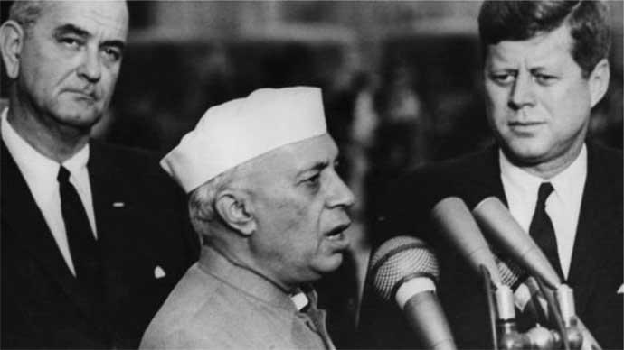 সাবেক মার্কিন প্রেসিডেন্ট জন এফ কেনেডির সঙ্গে ভারতরে প্রধানমন্ত্রী জওহরলাল নেহরু